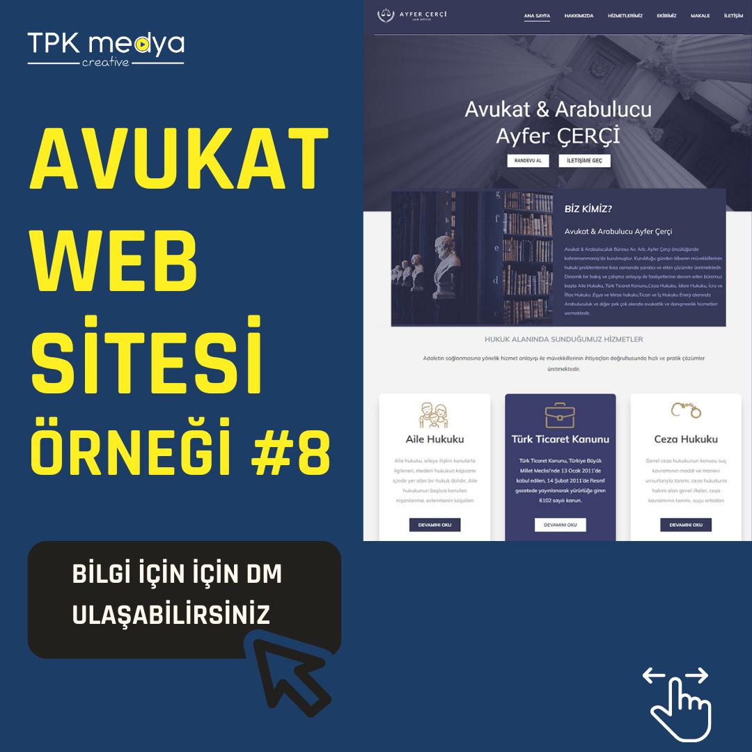 Avukat Web Sitesi Örneği 2