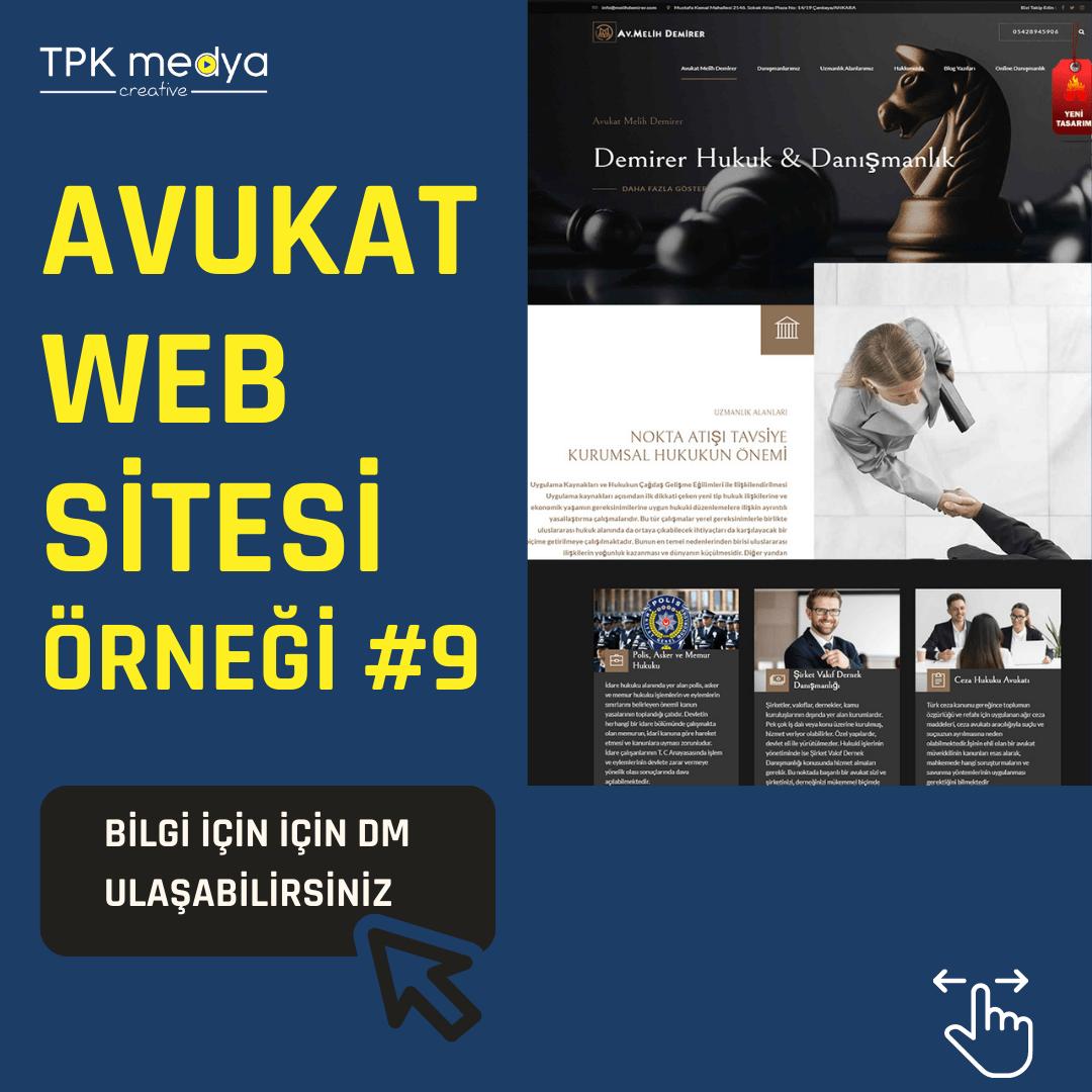 Avukat Web Sitesi Örneği 5