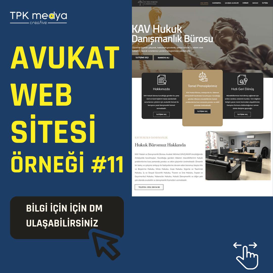Avukat Web Sitesi Örneği 4