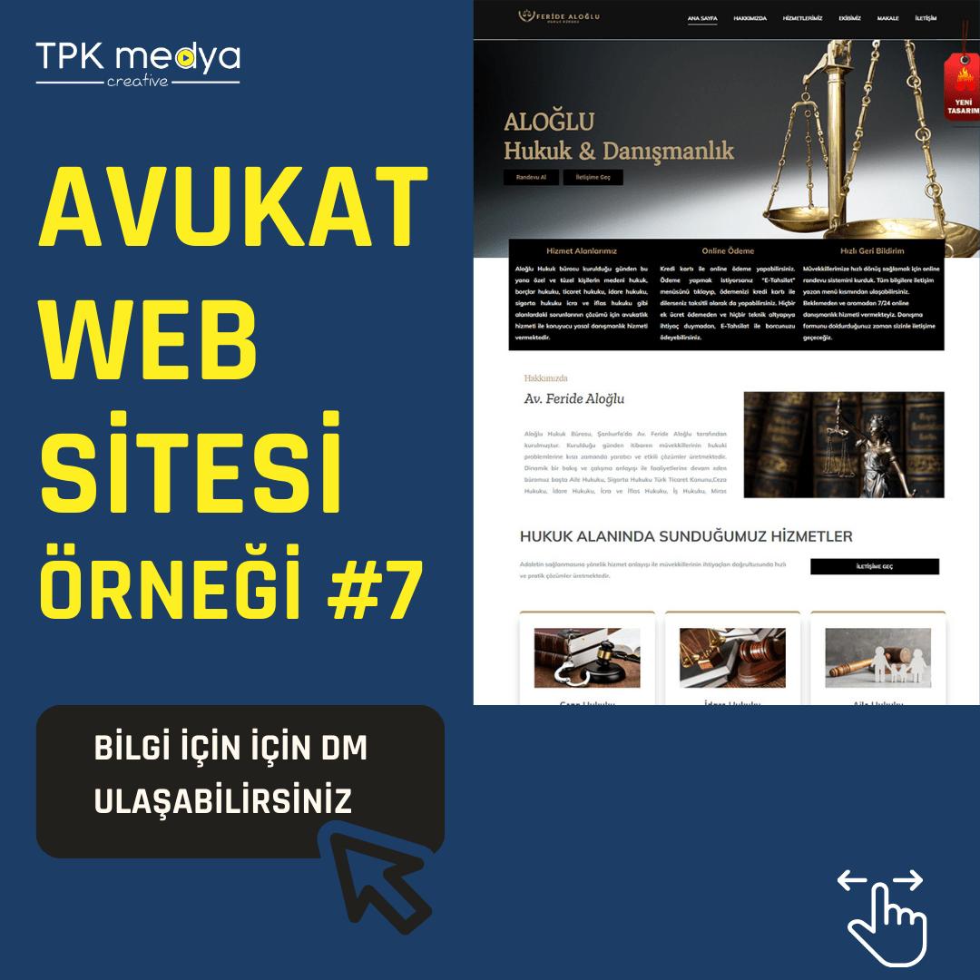Avukat Web Sitesi Örneği 1