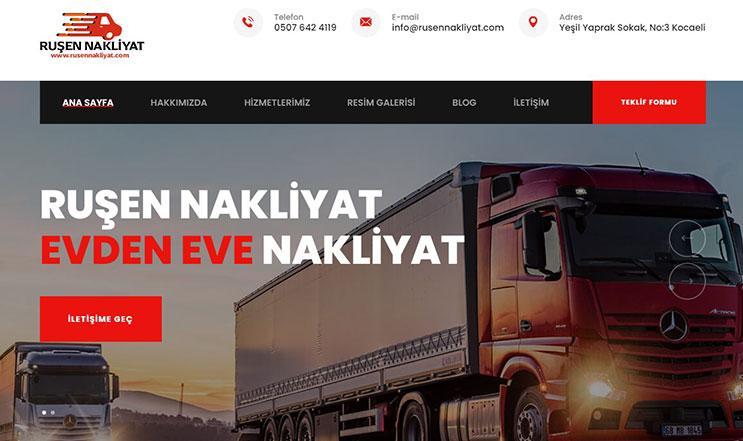 Ankara Nakliyat Web Sitesi Tasarımı
