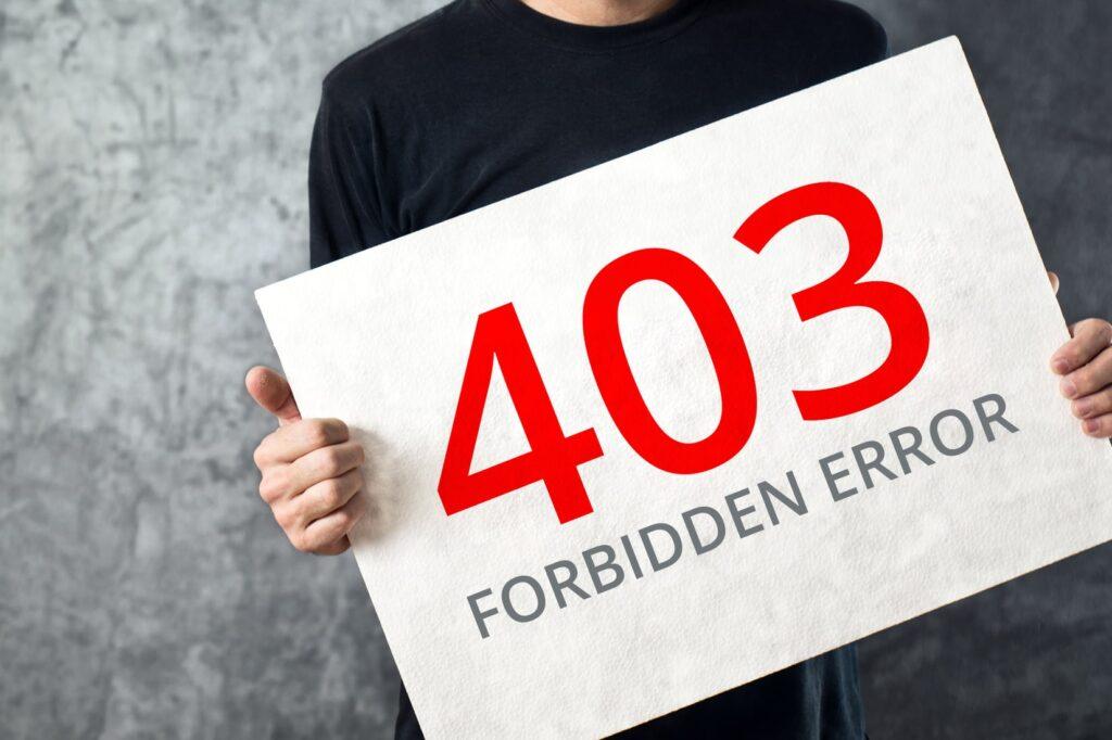 403 Forbidden Hatası Nedir? 403 Forbidden Hatası Çözülür?